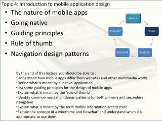The nature of mobile apps Going native Guiding principles Rule of thumb Navigation design patterns