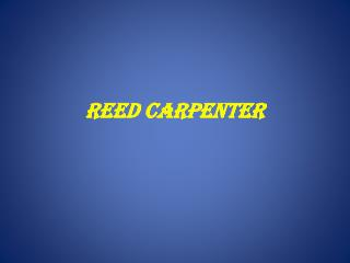 Reed Carpenter