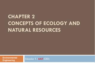 Chapter 2  Concepts  of Ecology and Natural  Resources