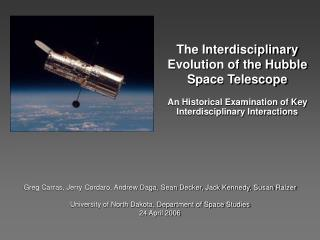 The Interdisciplinary Evolution of the Hubble Space Telescope