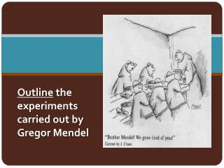 Outline  the  experiments  carried out by  Gregor  Mendel