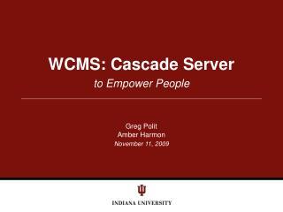 WCMS: Cascade Server