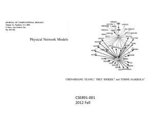 CSE891-001 2012 Fall