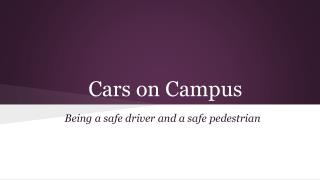 Cars on Campus