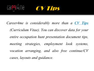 Effective Tips & Useful Tools For Build a CV