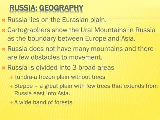 Russia: Geography