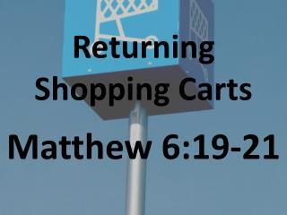 Returning Shopping Carts