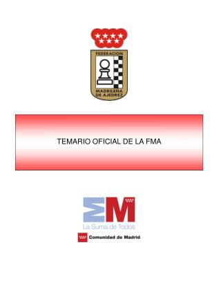TEMARIO OFICIAL DE LA FMA