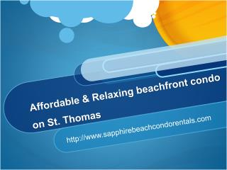 Affordable & Relaxing beachfront condo on St. Thomas