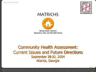 Community Health Assessment: