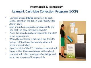 Lexmark Cartridge Collection Program (LCCP)