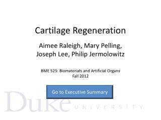 Cartilage Regeneration