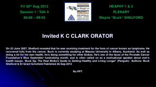 HEAPHY 1 & 2 PLENARY Wayne �Buck� SHELFORD
