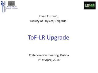 ToF -LR HV upgrade