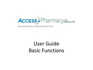 User Guide Basic Functions