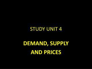 STUDY UNIT 4