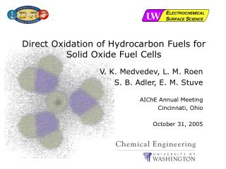 Direct Oxidation of Hydrocarbon Fuels for Solid Oxide Fuel Cells