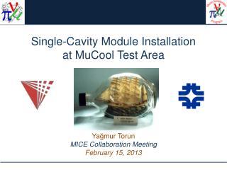 Single-Cavity Module Installation at  MuCool  Test Area