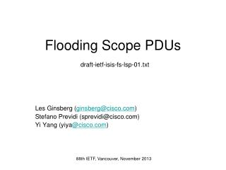 Flooding Scope  PDUs draft-ietf-isis-fs-lsp-01.txt