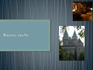 Bojnce  castle