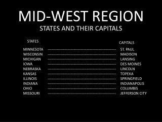MID-WEST REGION