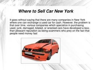 Where to Sell Car New York