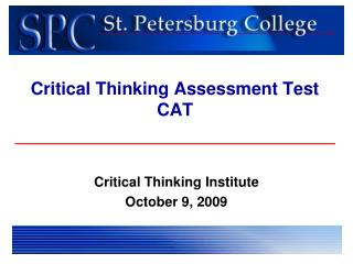 Critical Thinking Assessment Test CAT