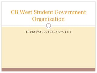 CB West Student Government Organization
