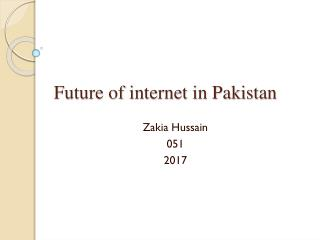 Future of internet in Pakistan