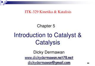 ITK-329 Kinetika & Katalisis