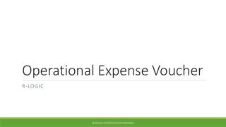 Operational Expense Voucher