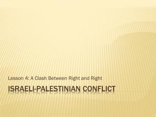 Israeli- palestinian  conflict