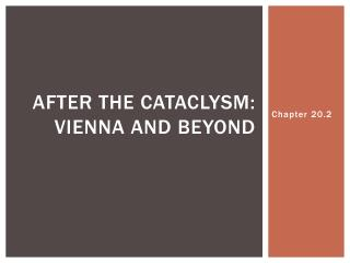 After the cataclysm: Vienna and beyond