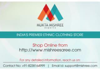 Online Sarees Shopping India from MishreeSaree.com