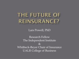 The future of reinsurance?