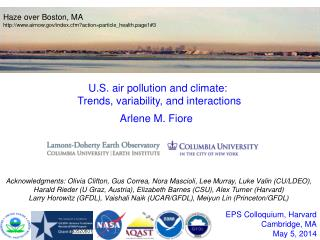 EPS Colloquium, Harvard Cambridge, MA May  5 , 2014