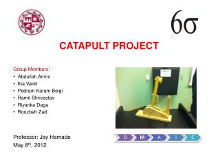 CATAPULT PROJECT Group Members: Abdullah Amini    Kia Vakili    Pedram Karam Beigi