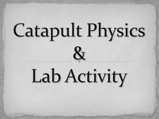 Catapult Physics & Lab Activity