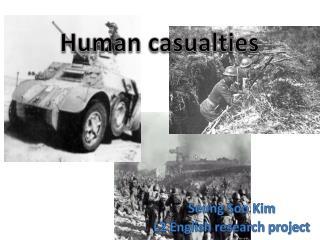 Human casualties