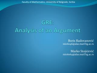 GRE: Analysis of an Argument