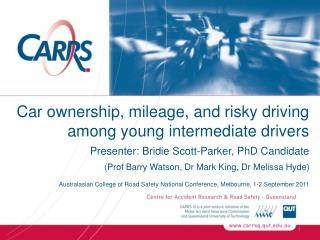 Car ownership, mileage, and risky driving among young intermediate drivers
