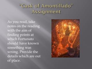"""Cask of Amontillado"" Assignment"