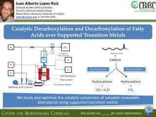 Juan Alberto Lopez-Ruiz Graduate Student (PhD Candidate) Thrust 3, Chemical Catalyst Design