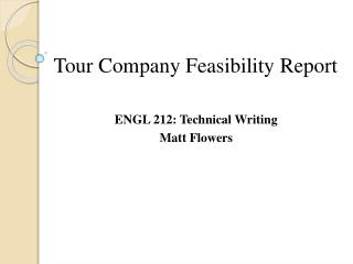 Tour Company F easibility  R eport