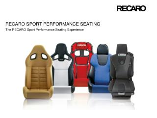 Recaro sport performance seating