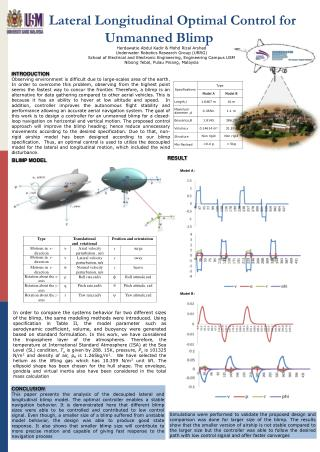 Lateral Longitudinal  Optimal Control for  Unmanned  Blimp
