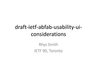 draft- ietf - abfab -usability- ui -considerations