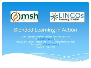 Blended Learning in Action