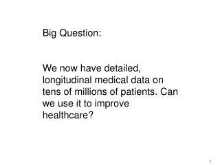 Big Question :