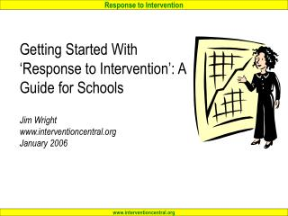 Getting Started With  Response to Intervention : A Guide for Schools  Jim Wright interventioncentral January 2006